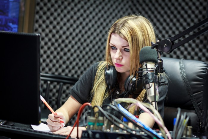female-in-studio